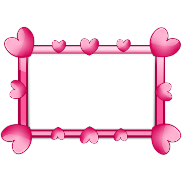 Pink hearts border vector image