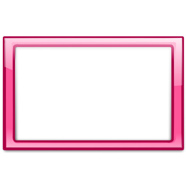 Gloss transparent pink frame vector clip art