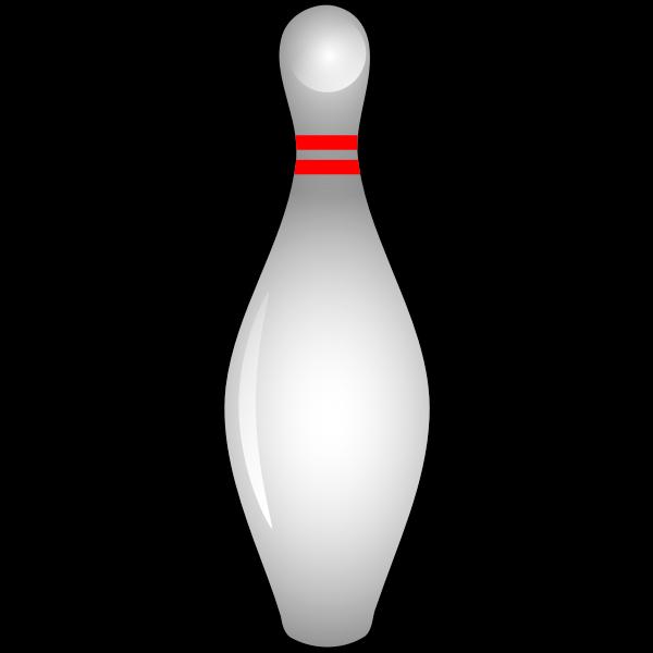 Shiny bowling pin vector illustration