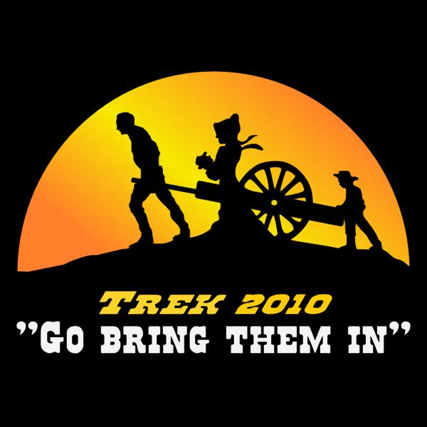 Pioneer trek logo color vector image