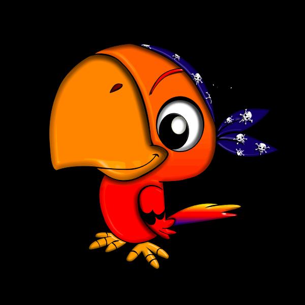 A parrot with big beak