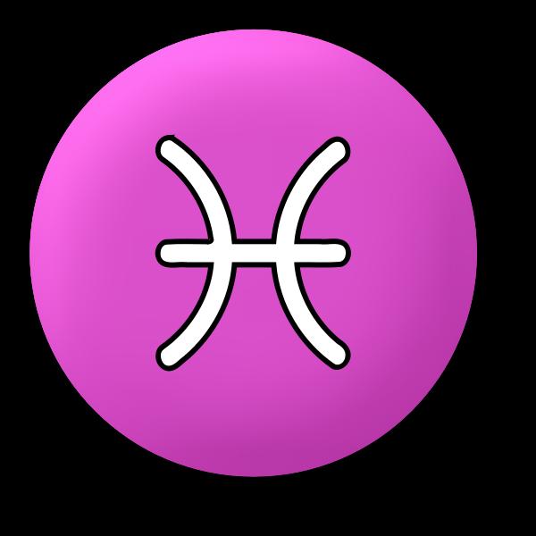Violet Pisces symbol