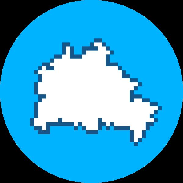 Pixel map logo