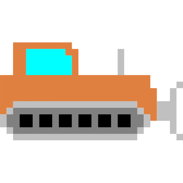 Pixel art bulldozer