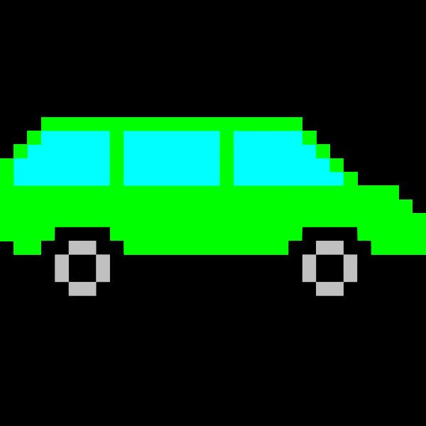 Green pixel car