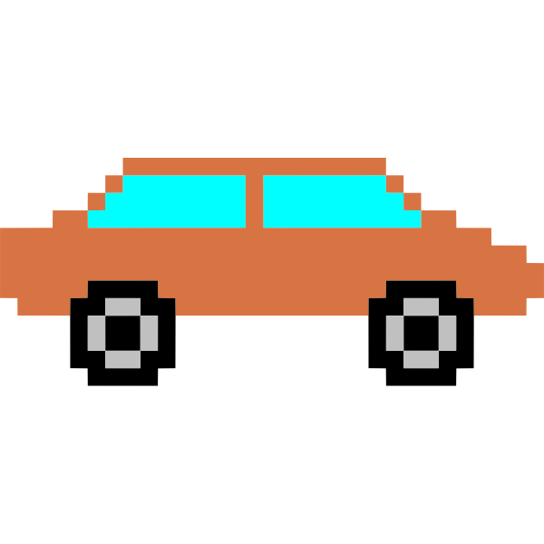 orange pixel car