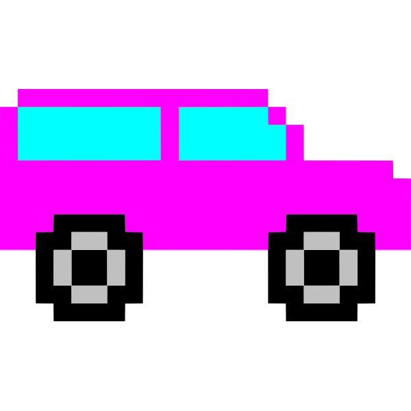 Pink pixel car