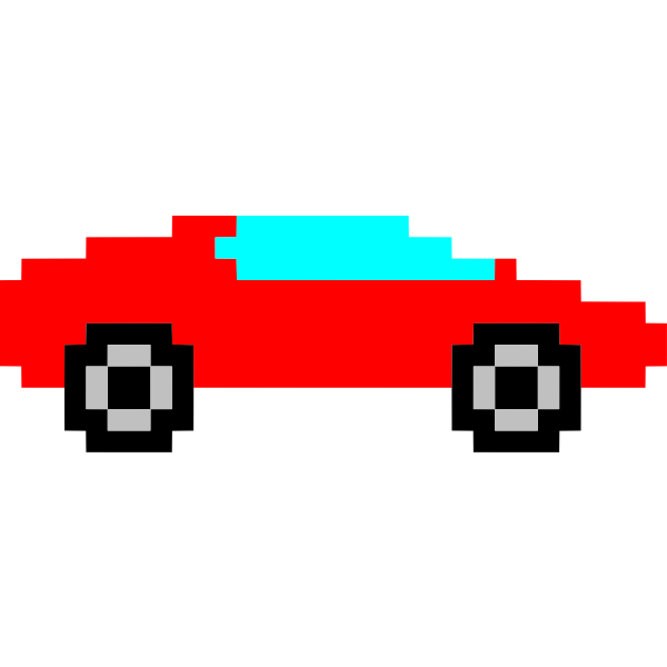 Pixel art car image