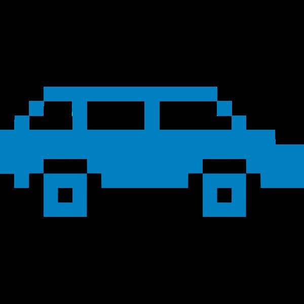 Pixel art car