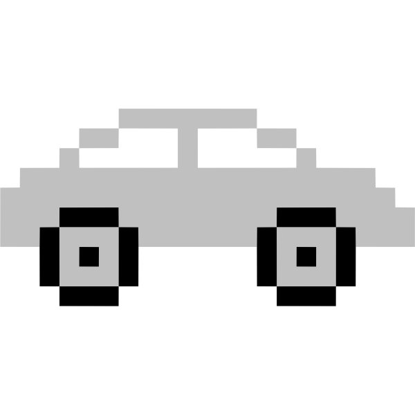 Car in pixels