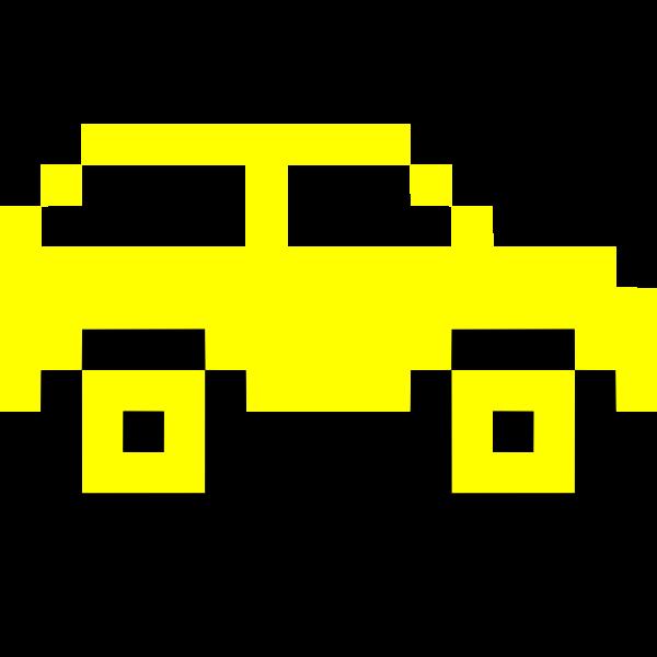 Yellow pixel car