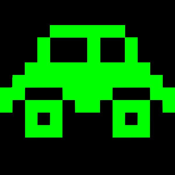 Green pixel car image