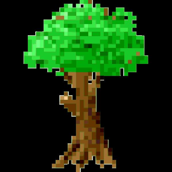 Pixel tree symbol