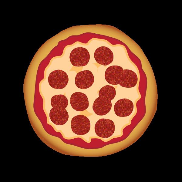 Pepperoni pizza vector illustration