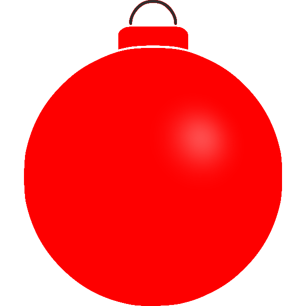 Plain red bauble