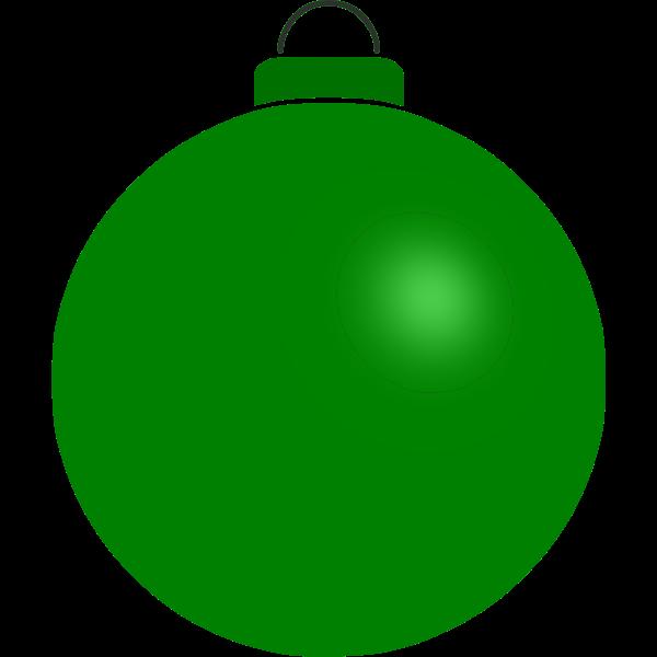 Plain green ball
