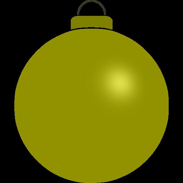 Yellow bauble image