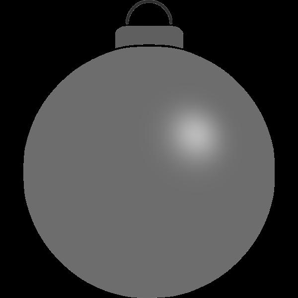 Plain gray bauble