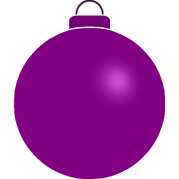 Plain violet bauble