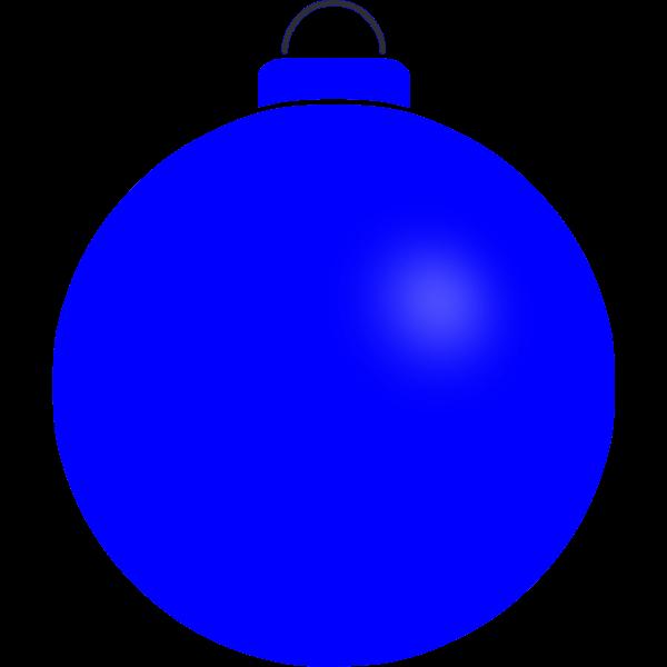 Plain blue bauble
