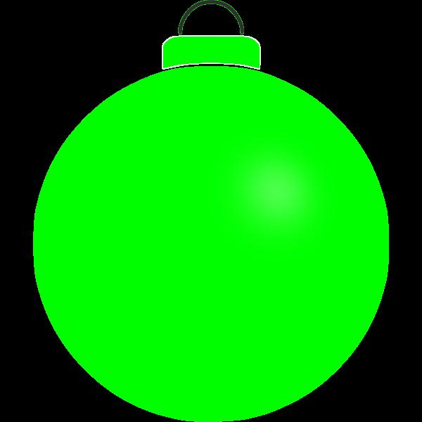 Plain green bauble