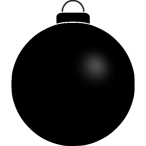 Plain black ball