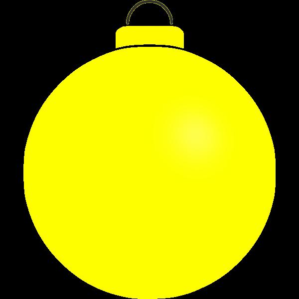 Simple yellow ball