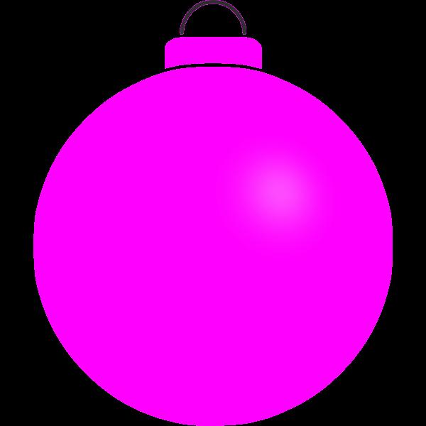 Plain pink ball