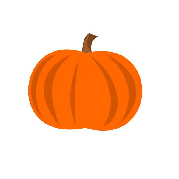 Plain pumpkin vector image