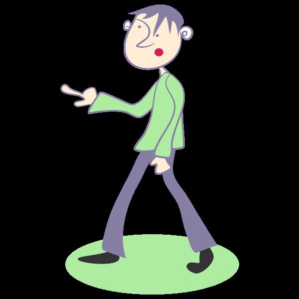Cartoon pointing man