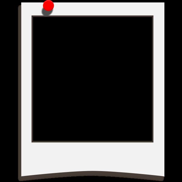 Polaroid pinup template