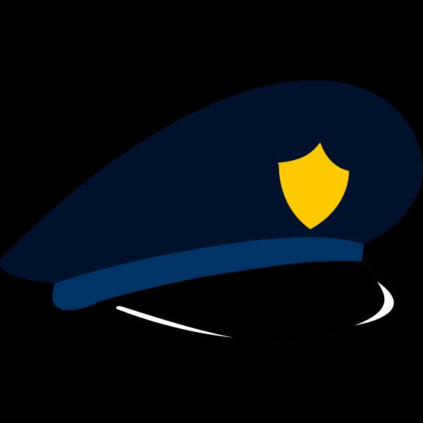 Police cap vector graphics