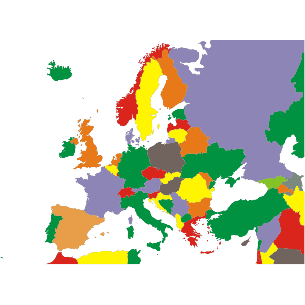 Political Map Of Europe Restored