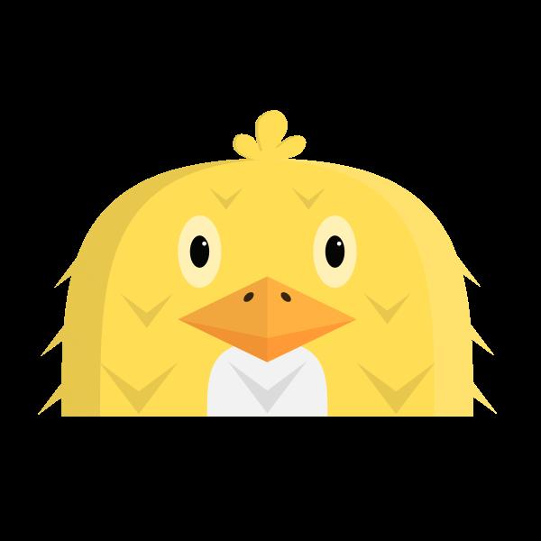 Yellow hen clip art