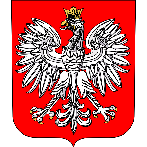 Coat of arms of Poland vector graphics