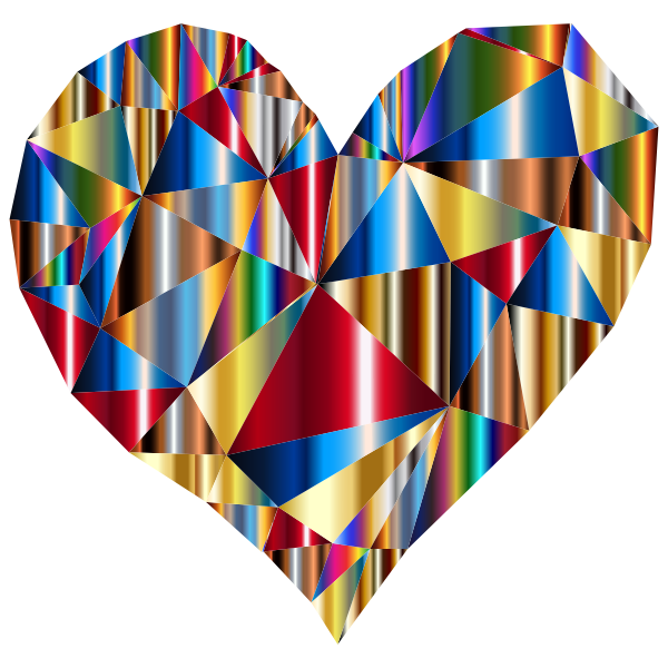 Polychromatic Low Poly Heart