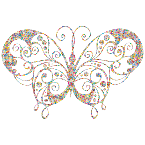 Ornamental colored butterfly