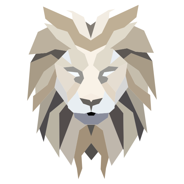 Polygonal Lion Face
