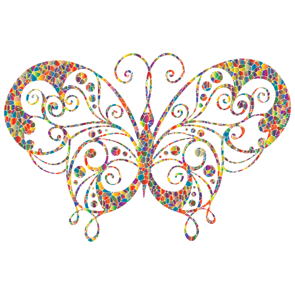 Colored decorative butterfly