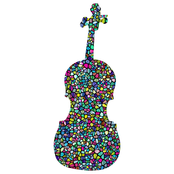 Polyprismatic Tiled Violin Silhouette With Background