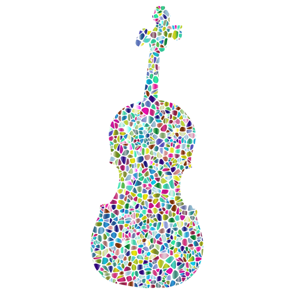Polyprismatic Tiled Violin Silhouette