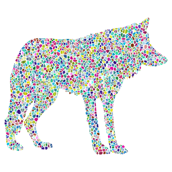 Polyprismatic Tiled Wolf Silhouette 2