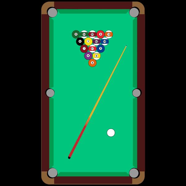 Pool table vector symbol