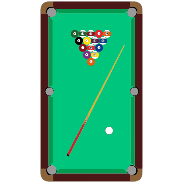 Pool table vector symbol