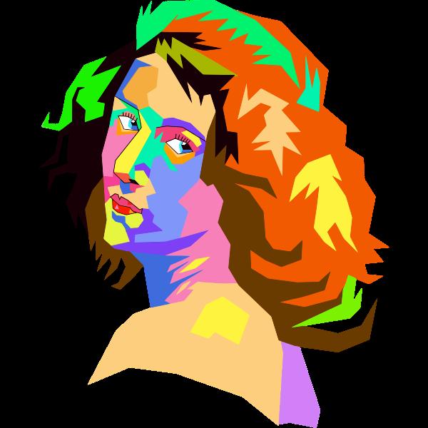 Pop Art Female Face