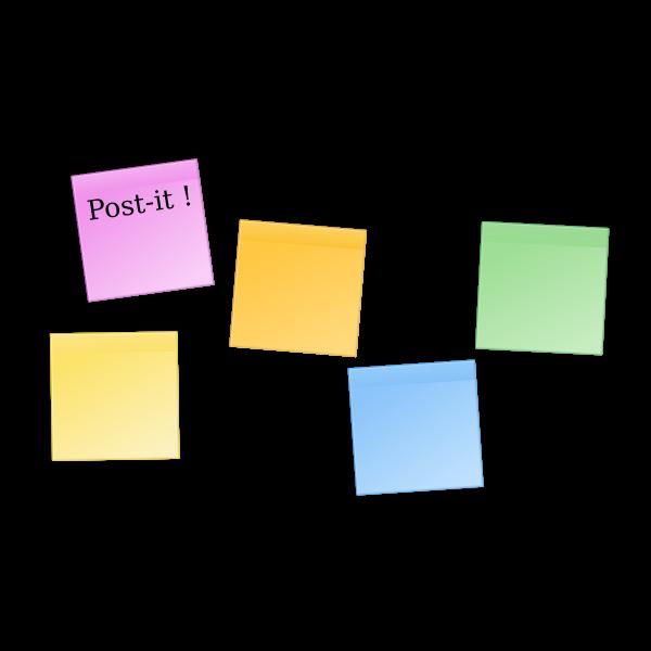 Post-it 5 colors