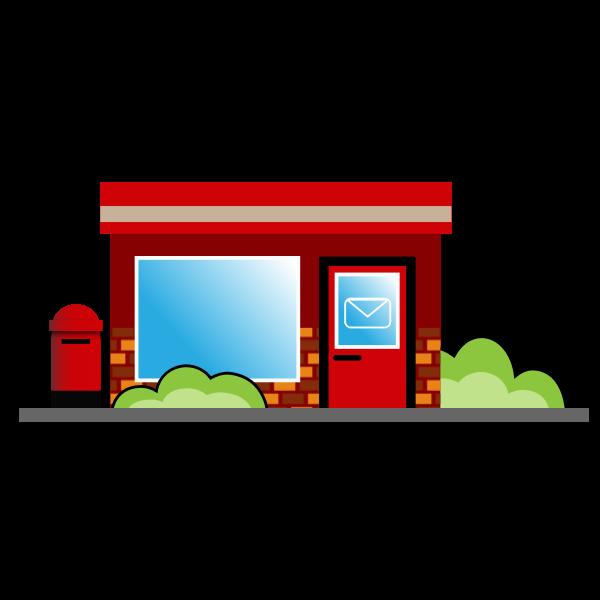 Post office cartoon image