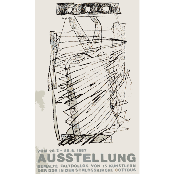 Announcement poster for art exhibit in Germany