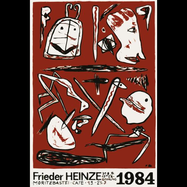Art exhibition by Frieder Heinze
