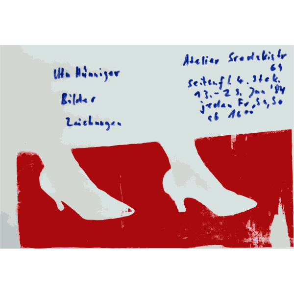 Poster with German text for an art exhibit